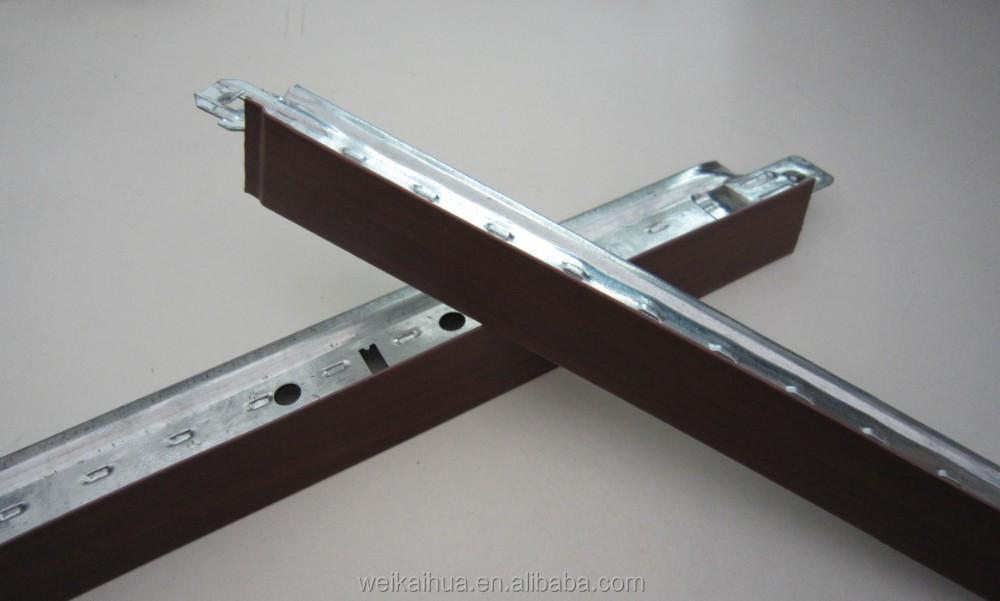 m tal coin supports faux bois poutres composants de sout nement de plafond id de produit. Black Bedroom Furniture Sets. Home Design Ideas