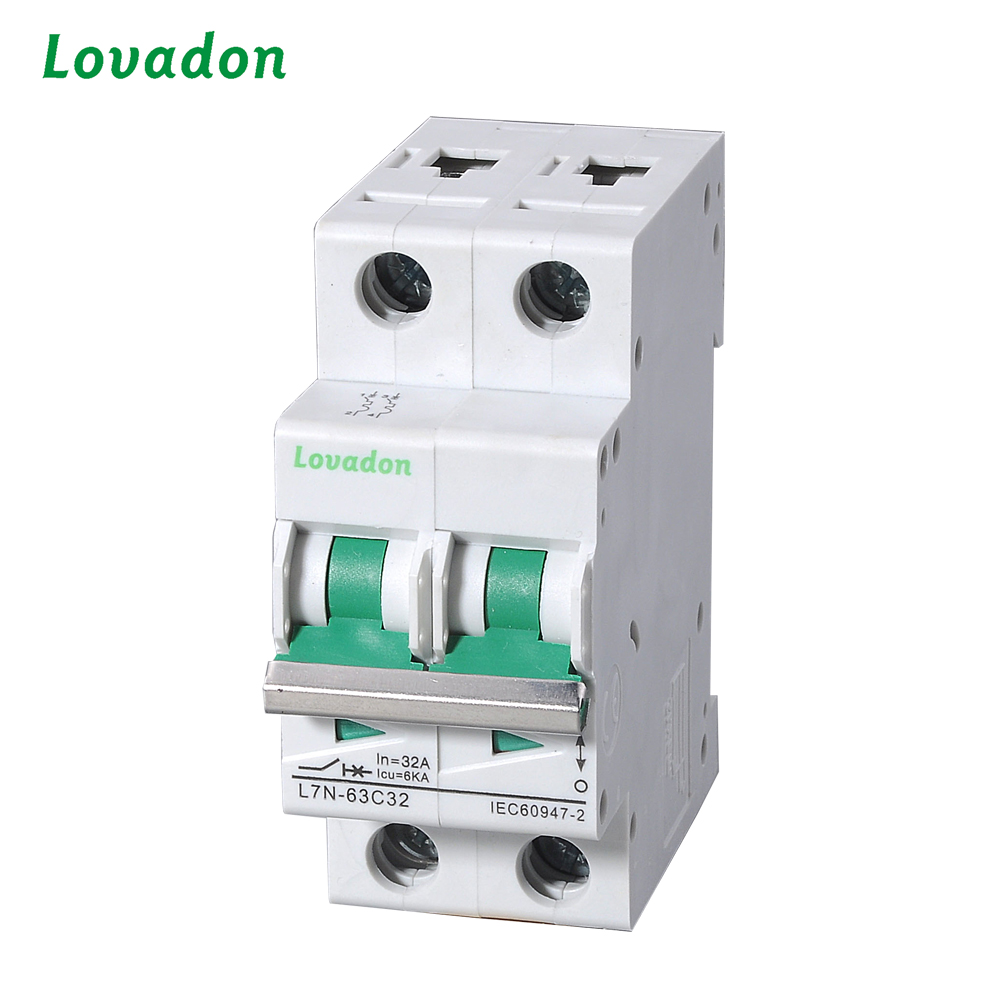C32 L7N Series 2P MCB Low Voltage The DC Miniature Circuit Breaker