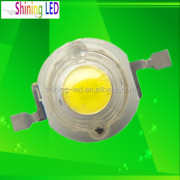 LED Factory Light Datasheet White 130-140LM / 120 Lumen / 150-160lm Epistar/Bridgelux Chip 33Mil 45MIL 3 Watt 1W High Power LED