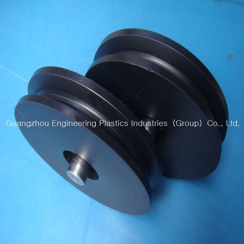 Low coefficient of friction customized TIVAR88 pulley PE500 sheave HD1000 plastic pulley