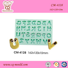 Orginal design! 3D Cute alphabet with eyes fondant silicone mold DIY craft silicone molds cake decorations mold