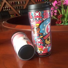 350ml Insulated Double Wall Plastic Coffee Tumbler Starbucks cup with paper insert pp travel mug