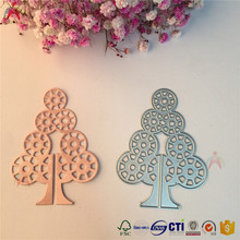 Fashion funny tree shaped die cuts, stocked metal die press for paper crafts