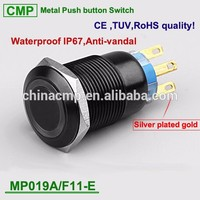CMP metal waterproof illuminated push button 5 pins led lighted switch