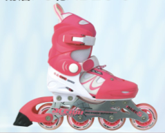 ACTION brand Inline Skate PW-130C Kid Shoes Inline Skate Frame Flashing Roller