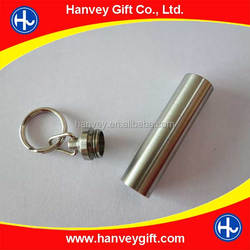 stainless steel lathe mini container pill fob vial