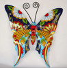 Outdoor Garden Wrought Iron Metal Butterfly Home Decor Talavera Style Colorful