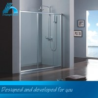 Quality Assured Lowest Cost Humanized Design Acrylic Tray Tempered Glass Prefabricated Shower Enclosure