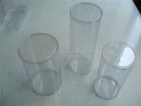 2015 clear plastic cylinder tube with lids food grade plastic packaging