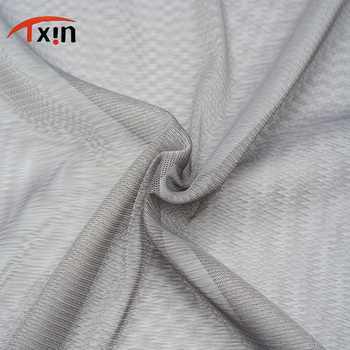 factory direct Textile polyester power stretch mesh fabric for wedding dress and lining