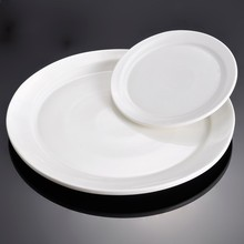 12 inch Hotel White Porcelain Food Service Plates