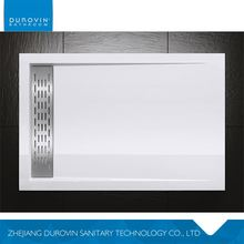 Factory direct sale custom design acrylic shower tray with solid surface wholesale