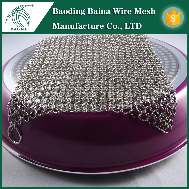 Baoding Baina Cast Iron Cleaner /kitchen scrubber sponge