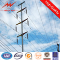 galvanized electric power column pole for outside transmission line