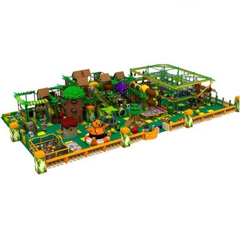 Happy forest jungle plastic kids playground indoor equipment