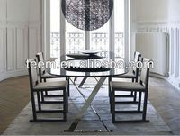 Elegant high glossy painting dinner tables cheap price dining table and chair