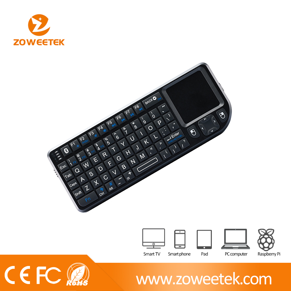 Ultra Mini Bluetooth AWERTY Keyboard with Touchpad (For IPAD, Smart Phone, Pocket PC, Laptop, IPTV)