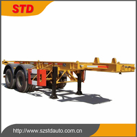 Africa container transportation semi trailer with 4 twist locks