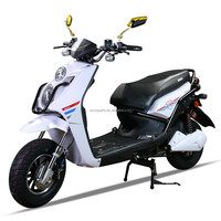 Good quality white color electric motorcycle 1200w electric scooter on road
