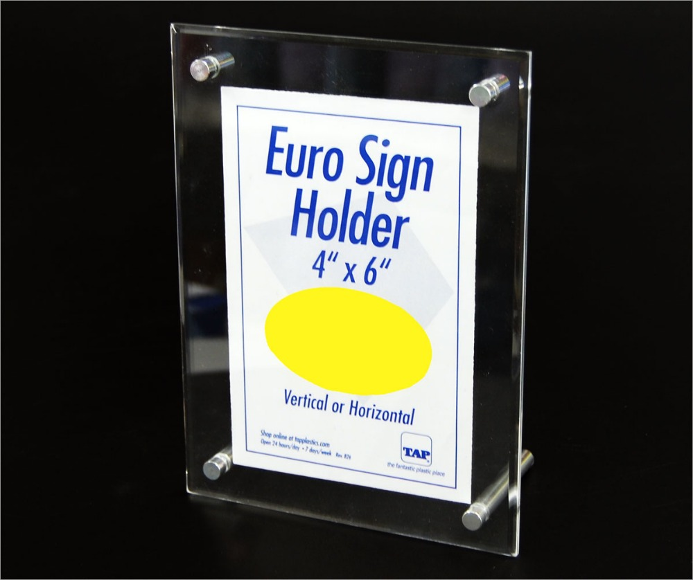 acrylic A5 sign holder for supermarket