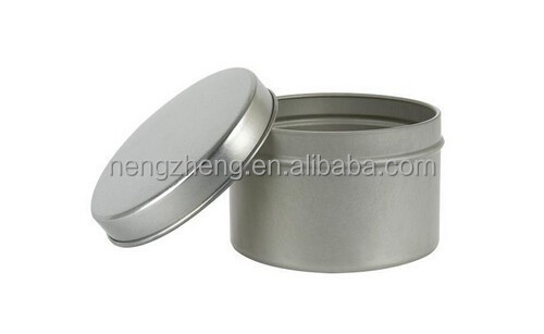 4 oz Shallow Rpund Tin Container with Slip Cover