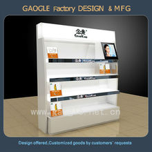 Fashionable Wooden Cosmetic Display Case with LED spot light