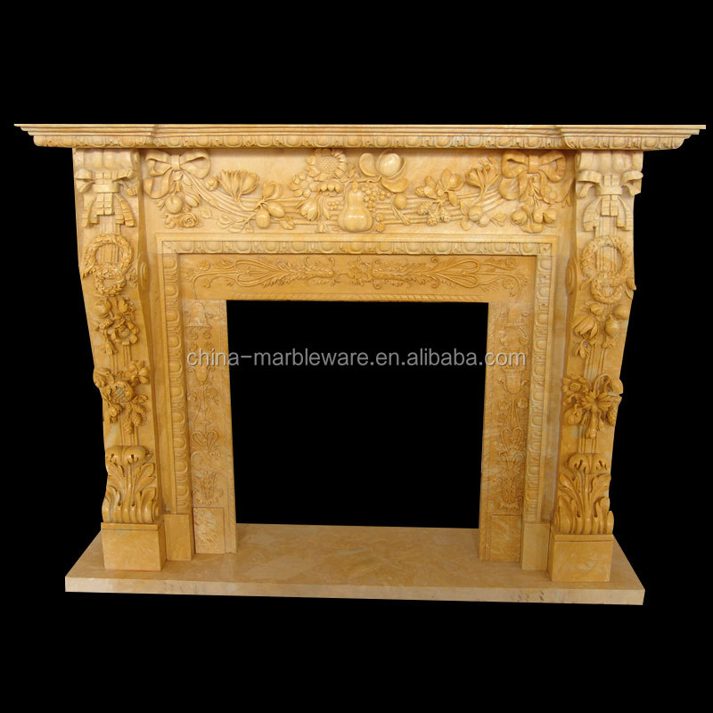 Decoration marble carving fireplace mantle