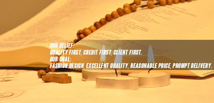 High quality handmade rosary durable wooden beads children rosary bracelets