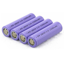 Cylindrical 18650 3.2V 1500mAh LiFePO4 rechargeable lithium phosphate battery cell