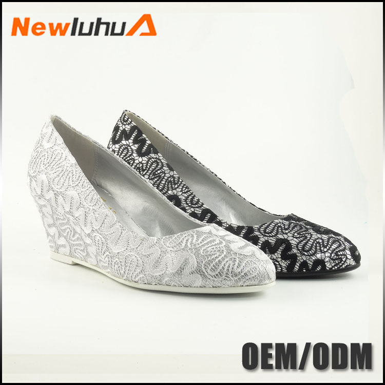 China manufacturer custom women high heel dyeable wedding shoes