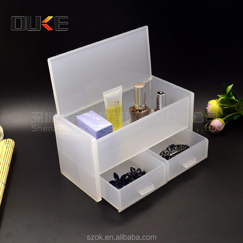 Promotional new product transparent acrylic makeup storage box with handle