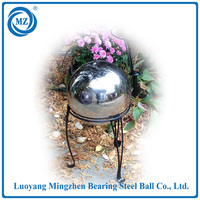 large hanging stainless steel decorative garden balls with hole