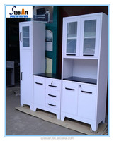 Cheap price white metal kitchen cabinets made in china