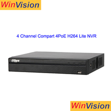 dahua 4 Channel Compact 1U 4PoE Lite mini Network Video Recorder surveillance system dvr NVR2104HS-P-S2