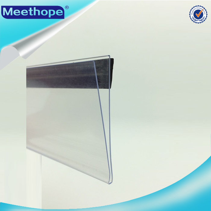 Plastic PVC Extruded Magnetic Data Strips Label Holders for Price Display