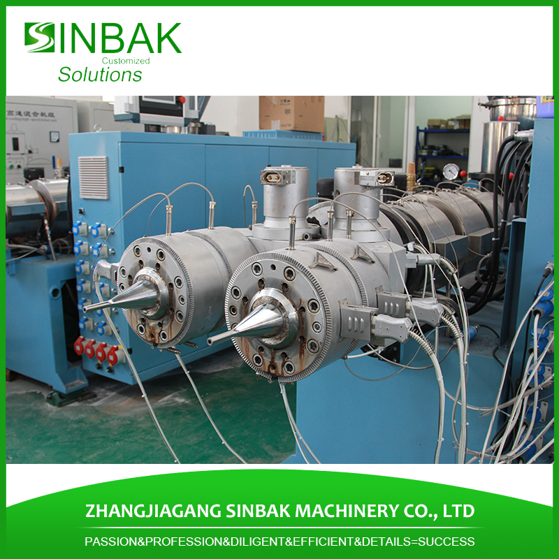 PE ppr pvc plastic extrusion machine pipe making extruder with PLC control