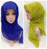 Fashion ladies muslin scarf muslim shawl