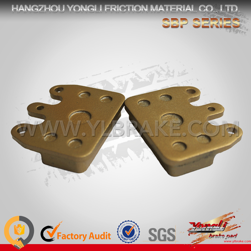 High temperature resistant train brake pad