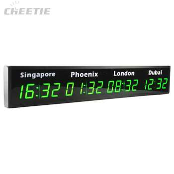 More Different City Time Digital LED World Clock Multiple Time Zone Clock