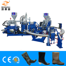 automatic rotary 1/2 color pvc boots injection molding machine