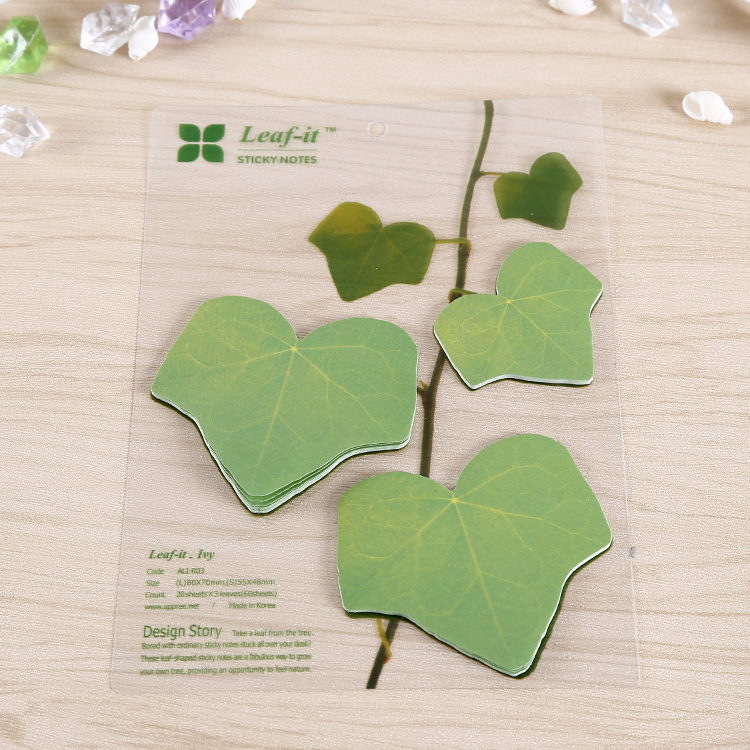 Different Leaves Shaped Sticky Note/ Die-cut Sticky Notes