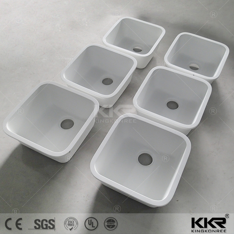 2017 new design quartz stone double sink for kitchen