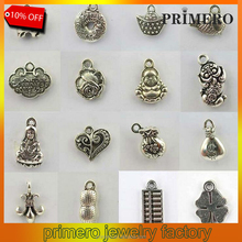 PRIMERO Charms Beads Tibetan Silver Pendants Sterling Silver Jewelry Necklace&bracelet decoration Crafts DIY alloy jewelry