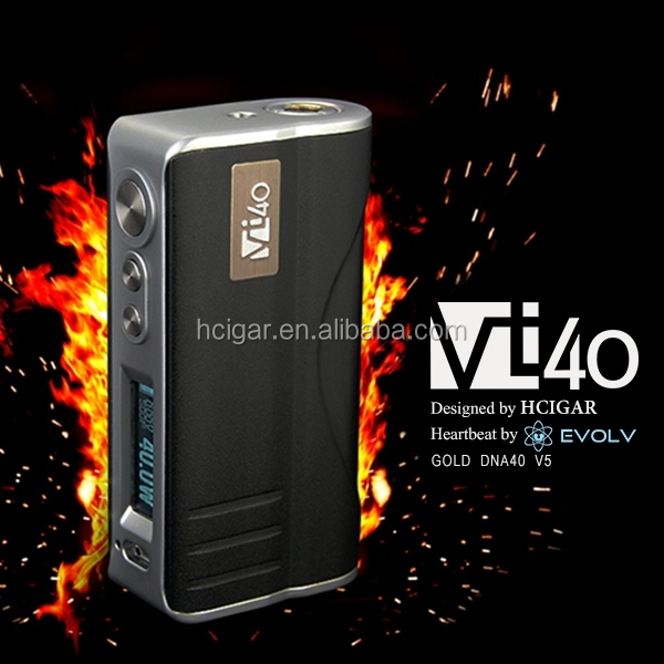 HCigar new box mod VT 40 Temperature control with Evolv DNA 40 chip