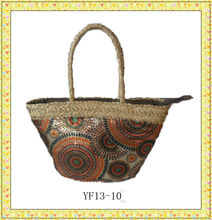 2013 fashion summer clothing seagrass straw bag
