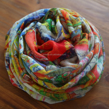 Wholesale fashion Printing shawl cashmere feel pashmina scarf