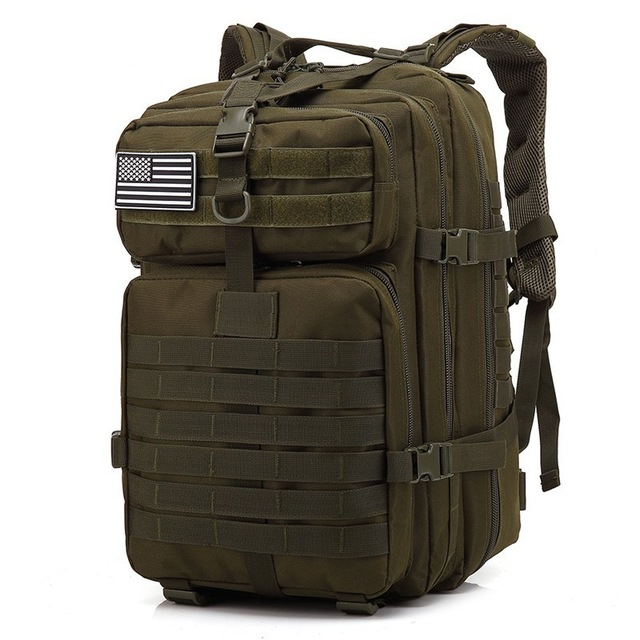 45L Large Capacity Man Army Tactical Pack Back Military Assault Bags Outdoors Water Proof Back Pack 3P EDC Molle Pack