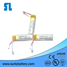 351039 110mAh 3.7V High quality lithium polymer battery with A cells high dischrage rate lipo battery