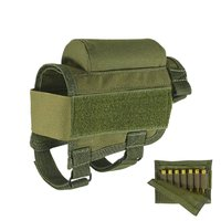 Adjustable Rifle Buttstock Tactical Cheek Rest Pad with 7 Shells Holder for Hunting Shooting