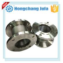 Large diameter stainless steel wire reinforced bellows tube expansion joint with flange